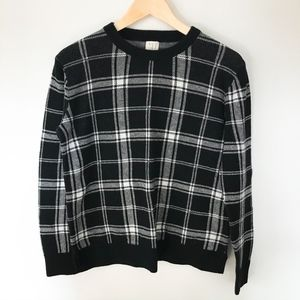 A New Day Black and White Plaid Sweater